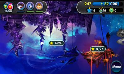 Screenshots of the Monster Galaxy Exile for Android tablet, phone.
