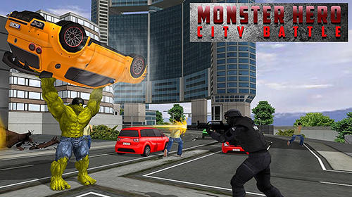 Monster hero city battle