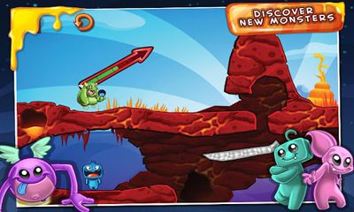 Screenshots of the Monster Island for Android tablet, phone.