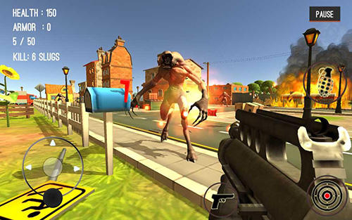 Screenshots von Monster killing city shooting 3: Trigger strike für Android-Tablet, Smartphone.