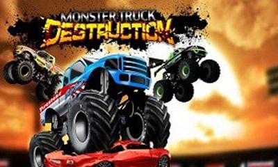Monster truck destruction poster