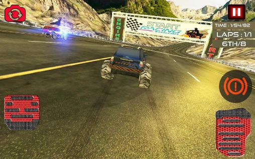 Monster truck racing ultimate für Android spielen. Spiel Monster Truck Rennen Ultimate kostenloser Download.