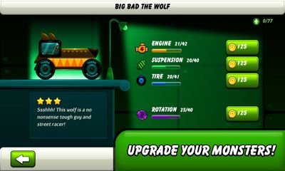 Геймплей Monsters Climb Race: hill race для Android телефону.