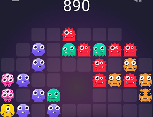 Monstro puzzle: Match 3 screenshot 1