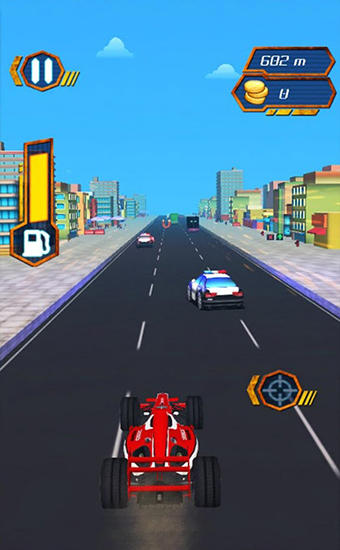 Download Moto cop dash Android free game.