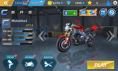 Screenshots do Moto drift racing - Perigoso para tablet e celular Android.