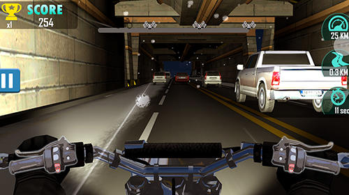 Screenshots von Moto racing: Traffic rider für Android-Tablet, Smartphone.