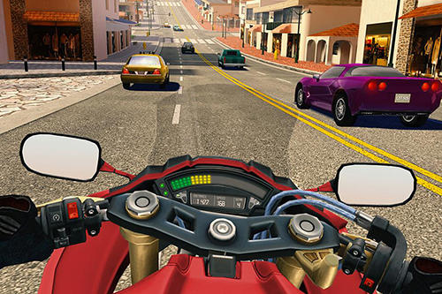 Screenshots von Moto rider go: Highway traffic für Android-Tablet, Smartphone.
