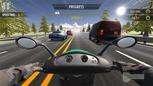 Motorcycle racing screenshot 3