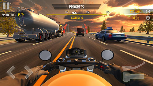 Screenshots von Motorcycle racing für Android-Tablet, Smartphone.
