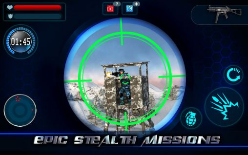 Screenshots do Mountain sniper 3D: Frozen frontier. Mountain sniper killer 3D - Perigoso para tablet e celular Android.