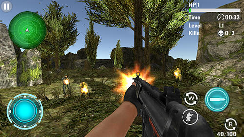 Screenshots von Mountain sniper shooting für Android-Tablet, Smartphone.