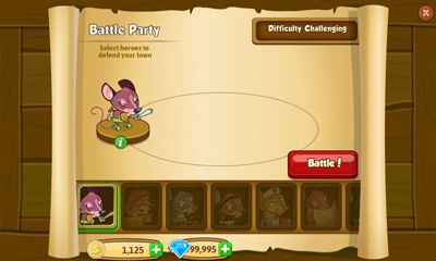 Screenshots of the Mouse Town for Android tablet, phone.