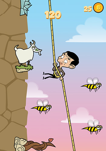 Download Mr. Bean: Risky ropes Android free game.
