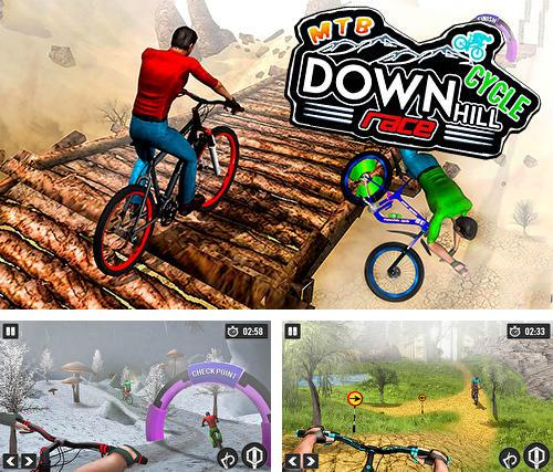 MTB downhill cycle race