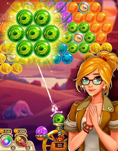 Screenshots von Museum story: Mystery bubble shooter für Android-Tablet, Smartphone.