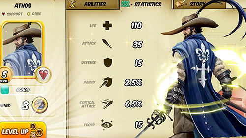 Screenshots von Musketeer Jack für Android-Tablet, Smartphone.