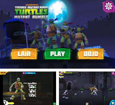 In addition to the game TMNT:  Rooftop run for Android phones and tablets, you can also download Mutant Rumble for free.