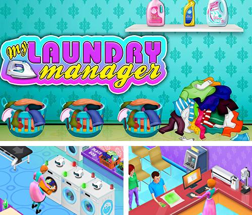 My laundry shop manager: Dirty clothes washing