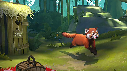 Screenshots von My red panda: Your lovely pet simulation für Android-Tablet, Smartphone.