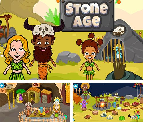 My stone age town: Jurassic caveman games for kids