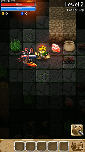 Get full version of Android apk app Grue the monster: Roguelike underworld RPG for tablet and phone.