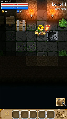 Screenshots of the Grue the monster: Roguelike underworld RPG for Android tablet, phone.