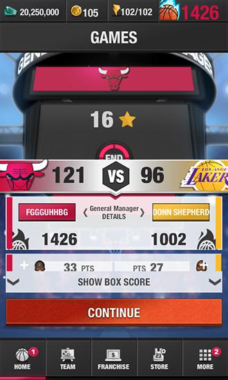 Screenshots of the NBA general manager 2016 for Android tablet, phone.