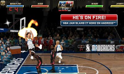 Screenshots do NBA JAM - Perigoso para tablet e celular Android.