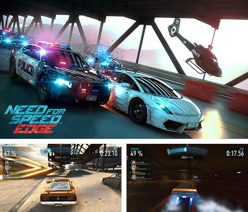 Zusätzlich zum Spiel Victory Lane Rennen für Android-Telefone und Tablets können Sie auch kostenlos Need for speed edge mobile, Need for Speed: Edge herunterladen.