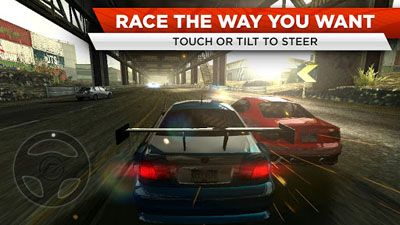 Capturas de pantalla de Need for Speed: Most Wanted para tabletas y teléfonos Android.