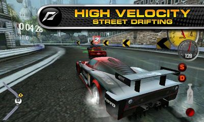 Écrans de Need For Speed Shift pour tablette et téléphone Android.
