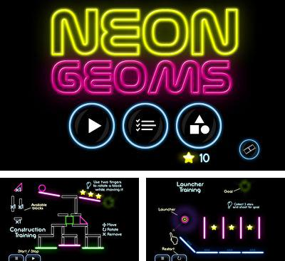 In addition to the game Glass for Android phones and tablets, you can also download Neon Geoms for free.