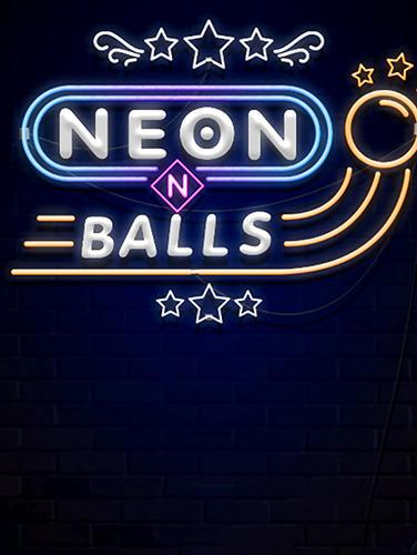 Neon n balls poster