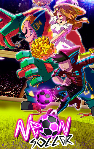 Neon soccer: Sci fi football clash and epic soccer poster