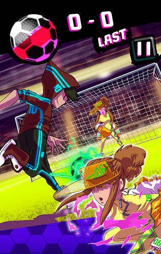 Neon soccer: Sci fi football clash and epic soccer screenshot 2