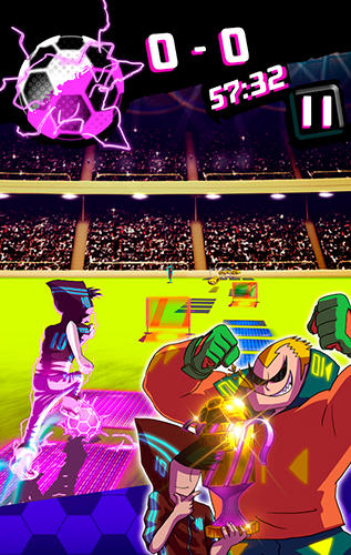 Neon soccer: Sci fi football clash and epic soccer screenshot 3