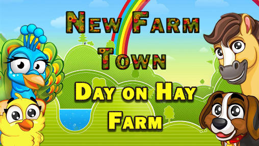 New farm town: Day on hay farm poster