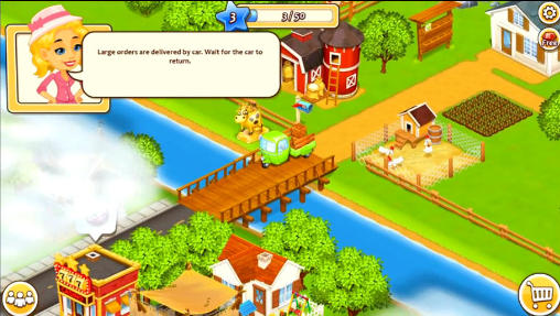 New farm town: Day on hay farm screenshot 3