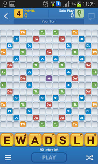 Capturas de pantalla de New words with friends para tabletas y teléfonos Android.
