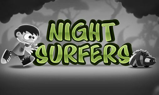 Night surfers poster