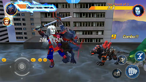 Screenshots von Ninja wolfman: Street fighter für Android-Tablet, Smartphone.