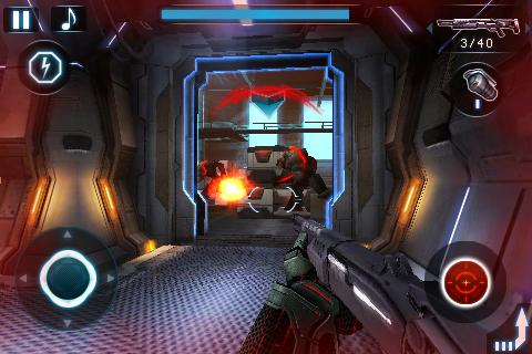 Screenshots of the N.O.V.A. Near orbit vanguard alliance for Android tablet, phone.