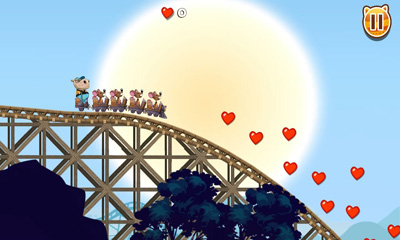 Screenshots of the Nutty Fluffies Rollercoaster for Android tablet, phone.