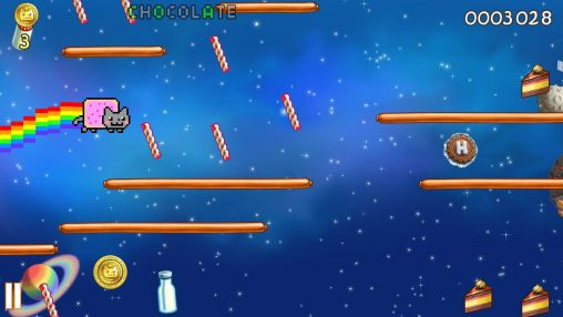 Kostenloses Android-Game Nyan Cat: Verloren im All. Vollversion der Android-apk-App Hirschjäger: Die Nyan cat: Lost in space für Tablets und Telefone.