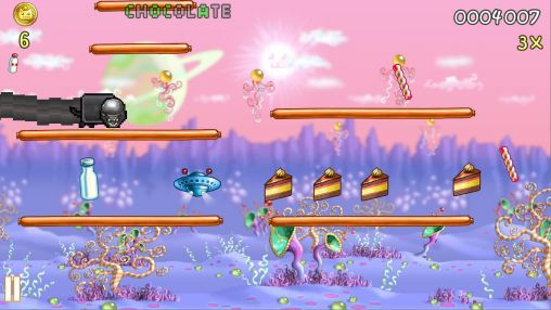Screenshots von Nyan cat: Lost in space für Android-Tablet, Smartphone.