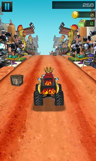Off road ATV: Monster trucks 3D für Android spielen. Spiel Off Road ATV: Monstertrucks 3D kostenloser Download.