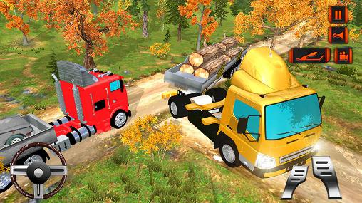 Screenshots von Off road hill drive: Cargo truck für Android-Tablet, Smartphone.