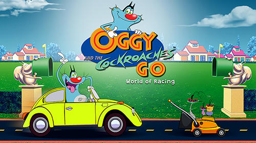 Oggy and the cockroaches go: World of racing обложка