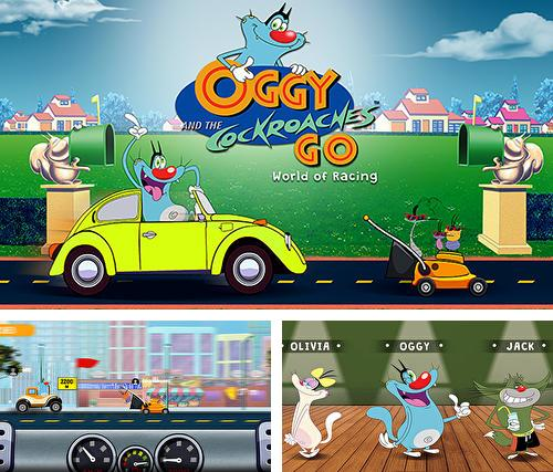 Oggy and the cockroaches go: World of racing
